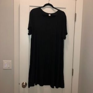 Old Navy black knit swing dress 2X